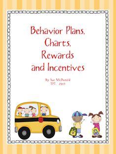 Mrs. McDonalds Busy Classroom: Behavior Management Bundle - Daily Behavior Plans, Charts, Rewards, Incentives$
