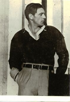 Another very, VERY sexy photo of a young Gary Cooper. I struggle with my feelings about this actor, having learned about his gay youth and then how he railed against gays later in life...however he was simply beautiful.