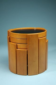 Nest of tables, designed by Gianfranco Frattini for Cassina, Italy. 1970's.