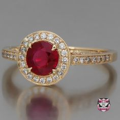 Art Deco Burma Ruby Engagement Ring - sweet Lord, I'd love this