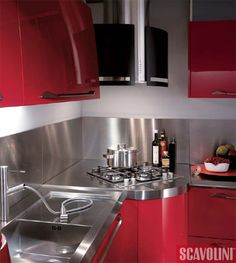 Space-Saving Ideas for the Kitchen. Corner hob.