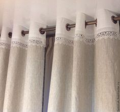 Купить Портьеры (шторы) комбинированные - портьеры, шторы, шторы для кухни, портьеры для кухни, штора, гостиная