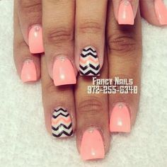 Peachie Nails. Perfect for summer