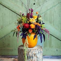 A little something we were up to this weekend. Halloween Wedding Flowers, Classy Halloween Wedding, Wedding Looks, Fall Wedding, Pumpkin Centerpieces, Wedding Flower Inspiration, Halloween Themes, Floral Arrangements, Wedding Decorations