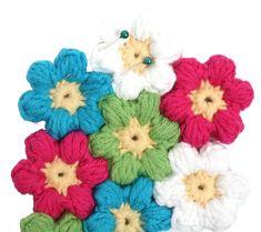 Kostenlose Anleitung: Blütenteppich häkeln