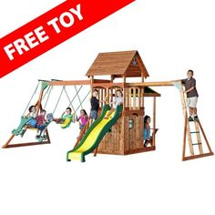 Backyard Discovery - Saratoga Cedar Swing Set, Price: $879.00  (Current Special Price of $819.00!)