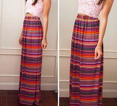 Mi primera máquina de coser: Diy: La falda más fácil del verano