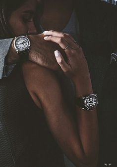 Adorable and gorgeous couple. Lovely and fashionable lovers. Love is everywhere. Expensive and luxury lifestyle. Accessories. Women and men Watches ...