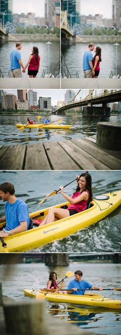 Kayak pittsburgh engagement photos!!