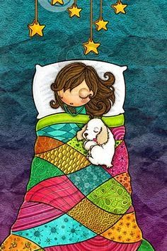 Good Night and Sweet Dreams! Birthday Greetings, Birthday Wishes, Happy Birthday, Vogel Gif, Happy B Day, Art And Illustration, Whimsical Art, Sweet Dreams, Cute Art