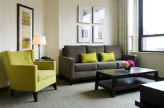 Contemporary Guest Room seating area