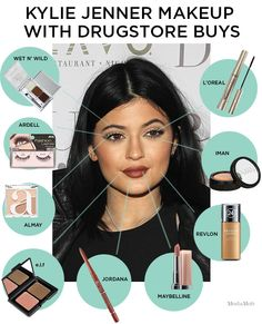 How To Do Kylie Jenner Makeup With All Drugstore Products #Kyliejenner #Makeup