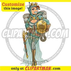 Steampunk Diver & Diving Helmet cartoon clipart - Clipartman.com
