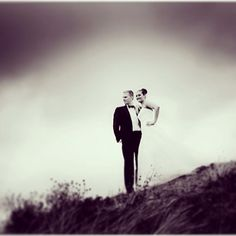 Bridal couple on the Hill