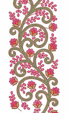 This design also used as Pakistani Fabric Online, This is Designer Lace Fabric Border Embroidery Designs, Simple Embroidery, Hand Embroidery Patterns, Lace Embroidery, Embroidery Stitches, Bordados E Cia, Paisley, Machine Embroidery Applique, Embroidery Fashion