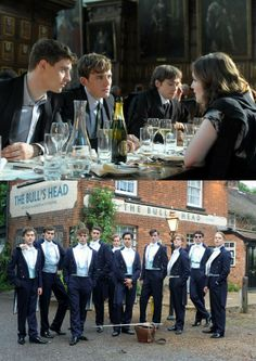Sam Claflin in the movie The Riot Club, originally titled Posh