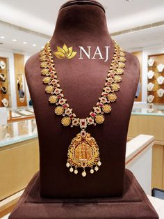 Enjoy this BIG SALE...Only @ NAJ NO WASTAGE* - NO MAKING - NO STONE COST Call or WhatsApp @ 9032041323 or email to mynaj@najindia.com... Available Only @ Naj Jewellery, Nellore.#TANAUSA, #TeluguUSA Gold Jewelry, Gold Necklace, Indian Jewelry, Jewelry Design, Pendants, Jewels, Stone, Big, Swimming