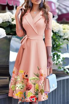 Casual Print A-Line Long Dress New 2021 Autumn Winter Women Elegant V-Neck Party Dress Office Lady Fashion Chic Irregular Dress A Line Long Dress, Skater Style Dress, Office Ladies, Sleeve Styles, New Dress, Party Dress, Wrap Dress, Elegant, Lady