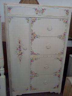 Vintage Shabby Chic Furniture | Vintage Painted Wardrobe, Chifferobe, Shabby Chic Furniture