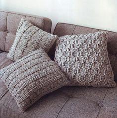 Чехол для подушки с рельефными коса