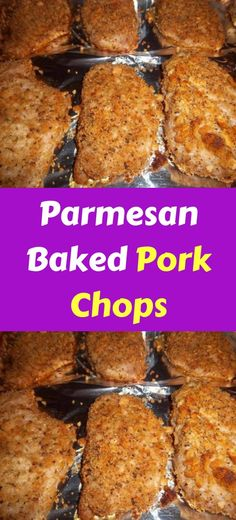 Parmesan Baked Pork Chops Talk about taking pork chops to a whole new level, these melted in your mouth delicious!These were the best pork chops I have eaten in a long time. So moist and tender Oven Recipes, Pork Recipes, Gourmet Recipes, Cooking Recipes, Pork Lion Chops Recipes, Recipes Dinner, Best Pork Chop Recipe, Dinner Ideas, Easy Pork Chop Recipes