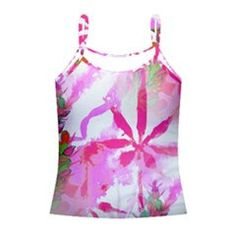 womens tank top shirt PINK Kush cannabis floral print | marijuana pot weed feminine nature botanical leaf ladies size XS S Med Large XL by CannabisColor on Etsy