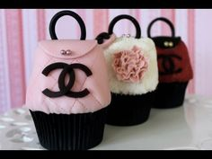 Chanel handbag cupcakes! Need I say more? The perfect accompaniment to our stiletto high heel shoe cupcakes :)  This tutorial and more available for FREE on our YouTube channel MyCupcakeAddiction