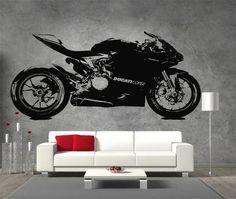 Ducati 1199 Panigale Moto GP Racing Motorbike Vinyl Sticker Wall Art Garage