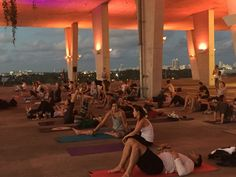 Sky Wave yoga @ 1111 Lincoln Road, Miami Beach Fl Lincoln Road, Rose Bay, Concrete Structure, Party Scene, Miami Beach, Car Parking, Waves, Namaste, Beautiful