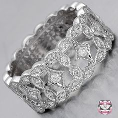 Edwardian Style Diamond Wedding Band - Special Order