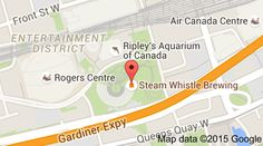 Map of Steam Whistle Brewing