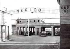 The Heffernan Avenue crossing from Calexico into Mexico at the southern end of U.S. Highway 99 (ca. 1933)