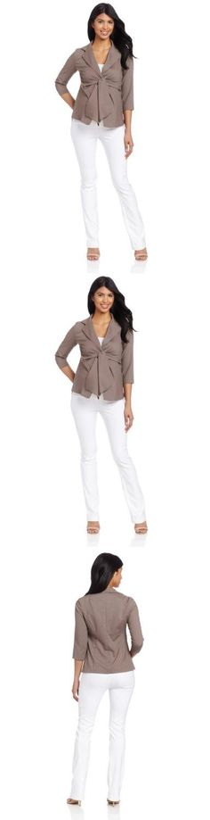 Maternal America Women's Maternity Front Tie Blazer, Cocoa, Medium, This is a great blazer for work or even a great fashion piece., #Apparel, #Blouses  Button-Down Shirts