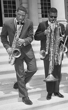 Sonny Rollins and Roland Kirk - Jazz Artists, Jazz Musicians, Music Artists, Roland Kirk, Jazz Players, Sonny Rollins, Bagdad, Smooth Jazz, Miles Davis