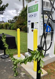 Our Hawaiian Electric DC fast chargers are level 3, which means they can replenish a nearly depleted electric vehicle (EV) battery to 80% in about 30 minutes! All of them have both CHAdeMO and CCS connections, which are used mostly by the Nissan Leaf, Mitsubishi i-MiEV, Kia Soul EV, and BMW i3. If you happen to own one of these EVs and are looking for a quick charge, you can download our HECO mobile app for both Apple and Android devices by visiting hawaiianelectric.com/mobileapp…