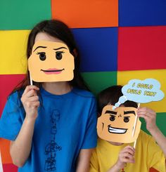 Lego Party. Have a photo prop wall with fun faces on sticks (mustaches, lips, hats lego themed and not) for parents to take photos of the kids and for kids to play around with.