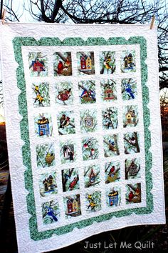 Just Let Me Quilt: My Tree Bird Is Here Today http://www.justletmequilt.com/2015/03/my-tree-bird-is-here-today.html Love this scallop border.