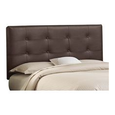 Sydney Tufted Leather Headboard in Brown