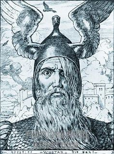 Odin after the sacrifice of his eye.