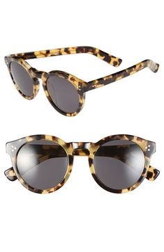 $290.00 Women's Illesteva 'Leonard II' 50mm Round Sunglasses - Tortoise Tortoise One Size #fashion #sunglasses