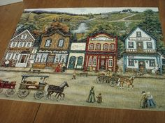 """jig saw puzzle ANN STOOKEY """" Mining town of Murray""""  500 Pcs."""