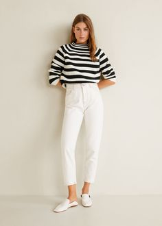 Striped cotton sweater - Woman 3274792d2562