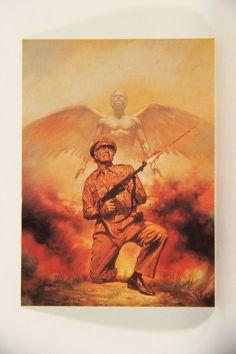 L010272 Boris Vallejo 1991 / General Zapped An Angel - 1978 - Card #75 / ARTWORK