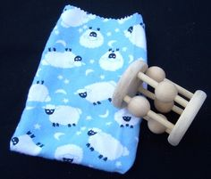My Bead Rattle/Teething Toy/Shaker Rattle/Rattle by Maukawoodwerks, $15.00