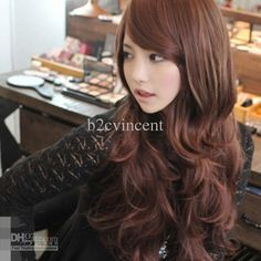 Wholesale S5Q New Sexy Fashion Womens Girls Wavy Curly Long Hair Human Full Wigs With Bang AAABOM, Free shipping, $11.6/Piece | DHgate