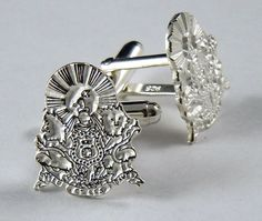 Kappa Alpha Order, KA, Fraternity Crest Sterling Silver Cufflinks NEW #McCartney