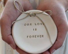 I love you til the day after forever Ring bearer pillow alternative