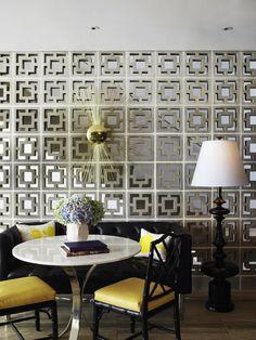 14 Unique Breeze Block Wall Inspiration For Housing – Breeze Blocks Beautiful Space, Beautiful Homes, Inspiration Wand, Interior Inspiration, Design Inspiration, Breeze Block Wall, Mid-century Modern, Modern Design, Modern Table