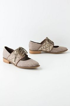 Esther Woven Oxfords #anthropologie