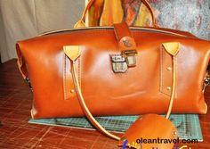 Leather Overnight Bag - genuine leather travel bag, doctor bag, handbag - http://oleantravel.com/leather-overnight-bag-genuine-leather-travel-bag-doctor-bag-handbag